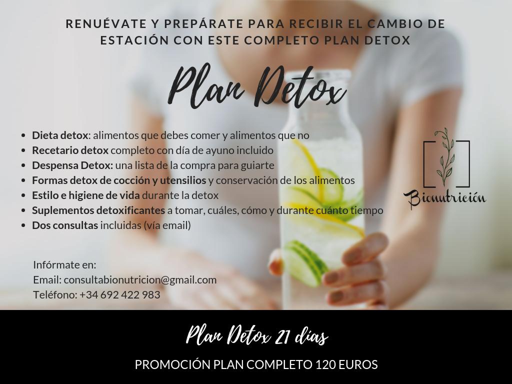 PROMOCIÓN PLAN DETOX 21 DÍAS!-BIONUTRICIÓN ORTOMOLECULAR