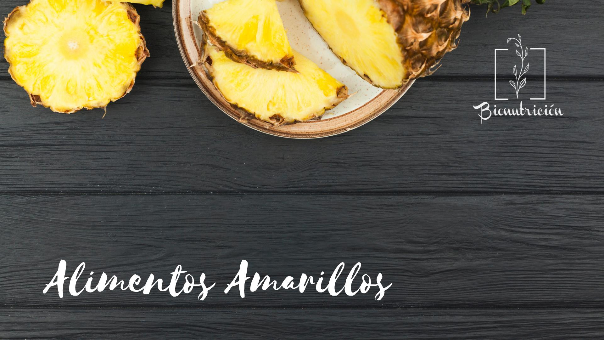 Propiedades de los alimentos amarillos-Bionutrición Ortomolecular