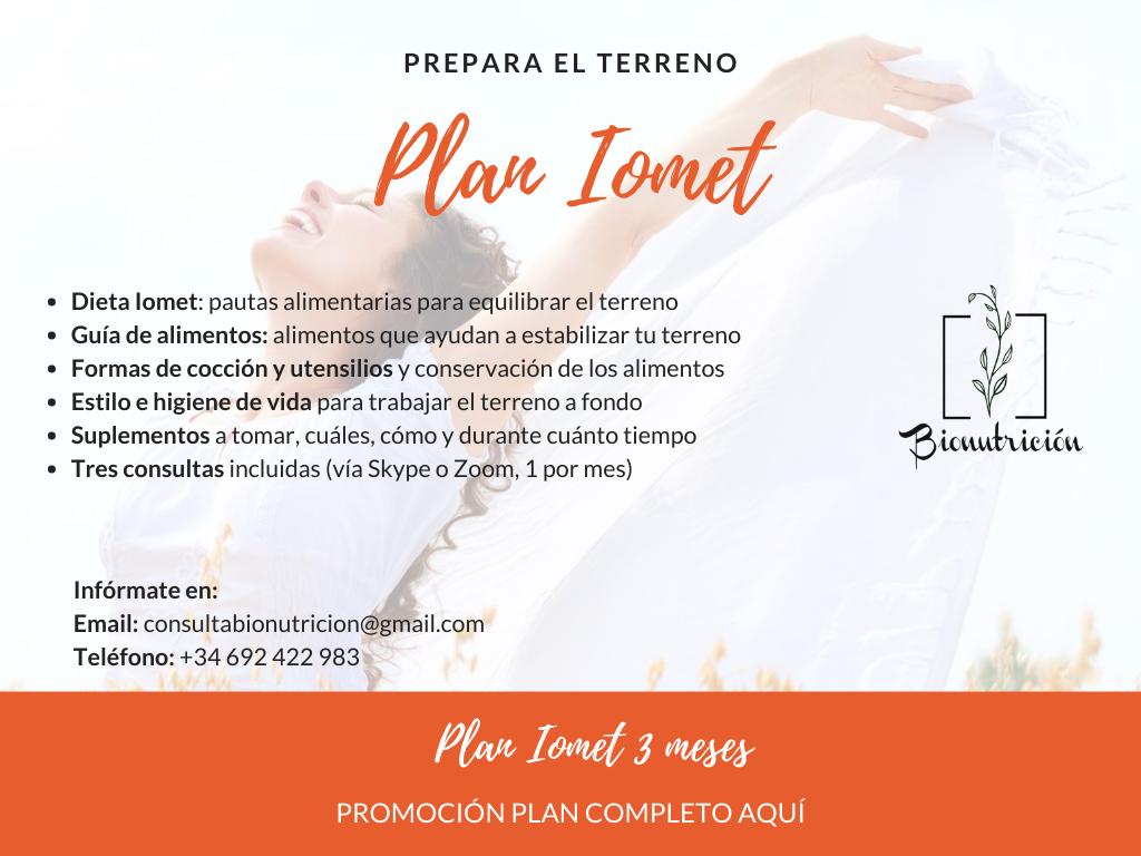 Plan Iomet - Bionutrición Ortomolecular. Terreno A ácido desmineralizado